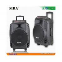 15 инчова тонколона MBA SA-8900 с вграден акумулатор, Bluetooth, МП3 плейър, безжични микрофони 2 бр. за караоке