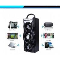 Мощна безжична Bluetooth тонколона с три говорителя и цветомузика - MS-222BT