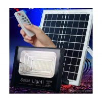 Градински соларен LED комплект FOYU 8840, Соларен панел, LED прожектор, Дистанционно управление, 40 W