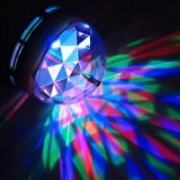 LED Диско Лампа Крушка Многоцветна Въртяща Енергоспестяваща