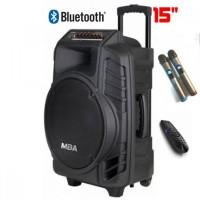 Активна караоке тонколона MBA SA-8900 15 инча с два безжични микрофона