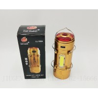 Двойна LED Лампа за къмпинг + Фенер LL-108A, USB изход, аварийна лампа