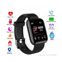 Влагоустойчива смарт гривна Smart technology 116, Пулс, Кръвно налягане, Кислород в кръвта