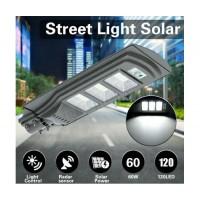 Градинска стенна LED лампа с 2 сензора CCLamp CL-110 60W, Светлинен датчик, Датчик за движение, Соларен панел, 60W