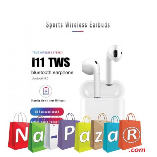 Безжични Bluetooth слушалки I11 TWS със зарядна станция