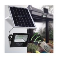 Градински соларен LED комплект FOYU 88100, Соларен панел, LED прожектор, Дистанционно управление, 100 W