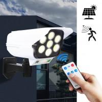 LED Соларна Лампа тип Камера с дистанционно 180W Мощност 77LED