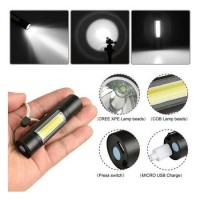 LED джобен фенер с фокус BAILONG и акумулаторна батерия