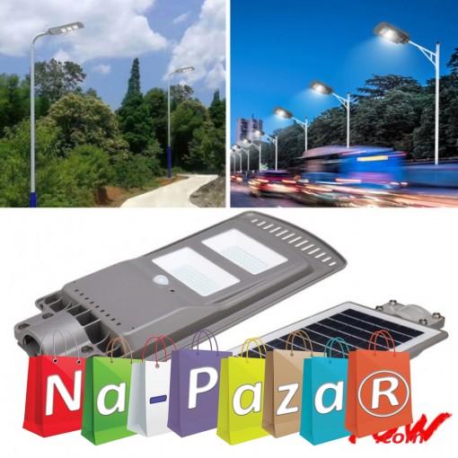 Градинска стенна LED лампа с 2 сензора CCLamp CL1040 40W, Светлинен датчик, Датчик за движение, Соларен панел, 40W