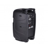 15 инчова тонколона MUHLER MAX 9 с вграден акумулатор, Bluetooth, МП3 плейър, безжични микрофони 2 бр. за караоке