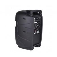 12 инчова тонколона MUHLER MAX 7 с вграден акумулатор, Bluetooth, МП3 плейър, безжични микрофони 2 бр. за караоке