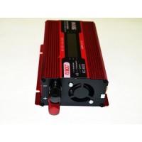 UKC инвертор за автомобил KC-500D, 12V-220V, 500W - с дисплей