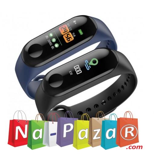 Влагоустойчива смарт гривна Smart technology M3, Пулс, Кръвно налягане