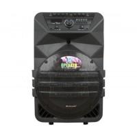 12 инчова тонколона OM&LS К5-12 с вграден акумулатор, Bluetooth, МП3 плейър, безжични микрофони 2 бр. за караоке