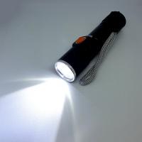 Мини LED фенер с USB зареждане мощен джобен фенер ZOOM функция